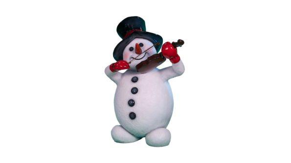 Snowman w/violin