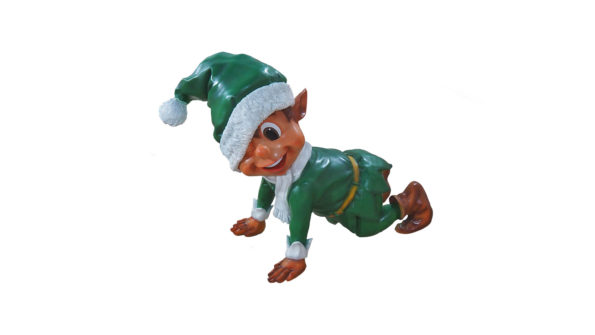 Santas elf crawling