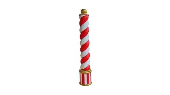 Candy cane pillar