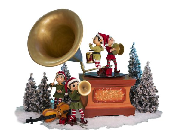 Gramophone with Music Elves.